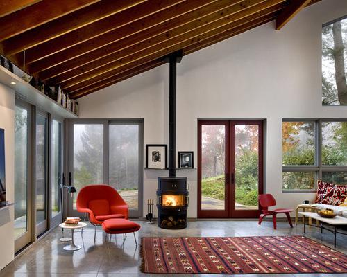 Modern Wood Stove Ideas - Modern Wood Stove Ideas Houzz
