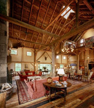 Farmhouse Living Room by Douglas VanderHorn Architects