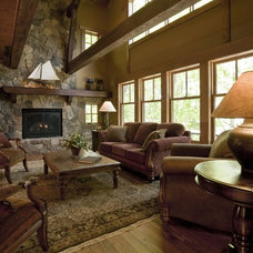 Rustic Living Room by nancekivell home planning & design