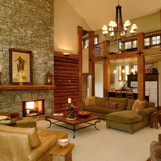 Eclectic Living Room by Scott Wilson Architect, LLC