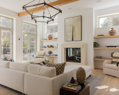 Farmhouse Living Room Idea In Los Angeles