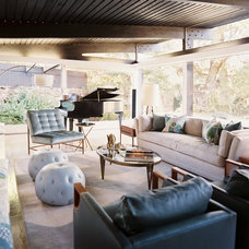 Midcentury Living Room by Hillary Thomas Designs