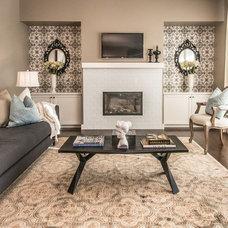 Eclectic Living Room by Alykhan Velji Design