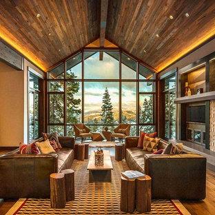 Living room - contemporary living room idea in Sacramento