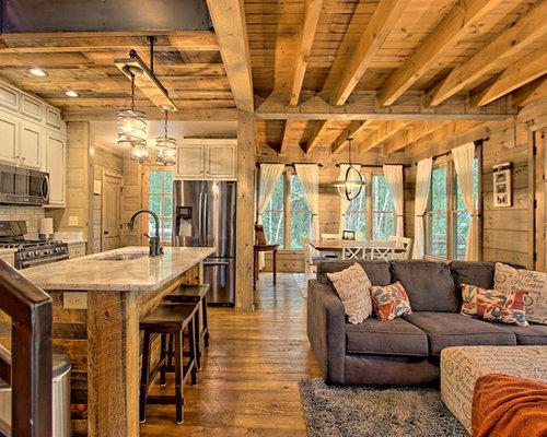 Rustic Living Room Design Ideas Remodels  Photos Houzz - Rustic living rooms
