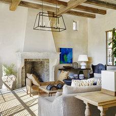 Mediterranean Living Room by David Michael Miller Associates