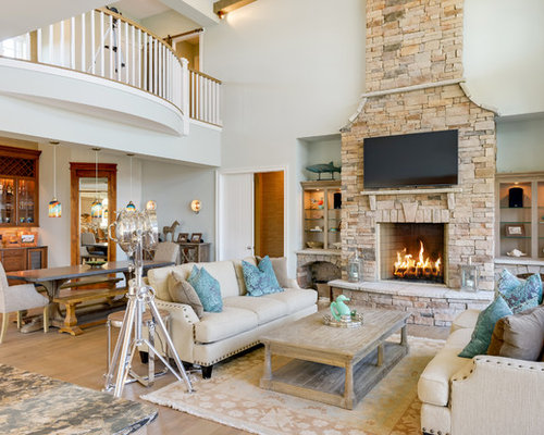 rustic blue living room color ideas   Rustic Living Room Design Ideas, Renovations & Photos with ...