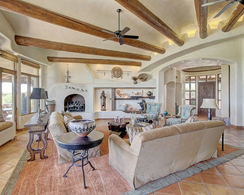 Inspiration For A Southwestern Living Room Remodel In Phoenix