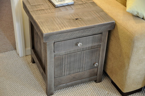 What Is The Price For The Slate Gray End Table From Rustic Trades?