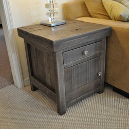 Rustic End Tables- Rustic Slate Gray -