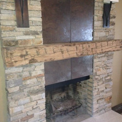 Rustic Fireplace Mantels -
