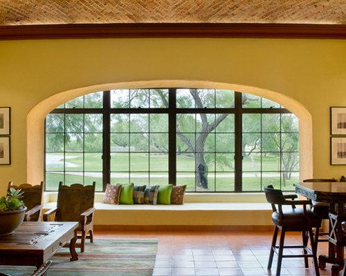 Southwestern yellow living room design ideas remodels for Southwestern living room designs