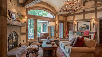 Rustic Lake House Living Room