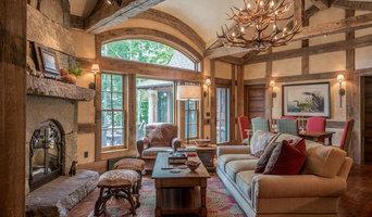 Rustic Lake House Living Room