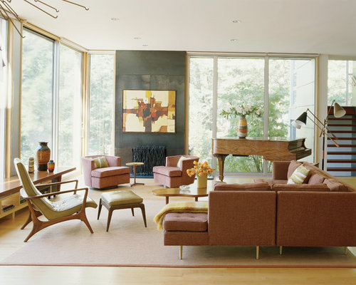 retro living room | houzz