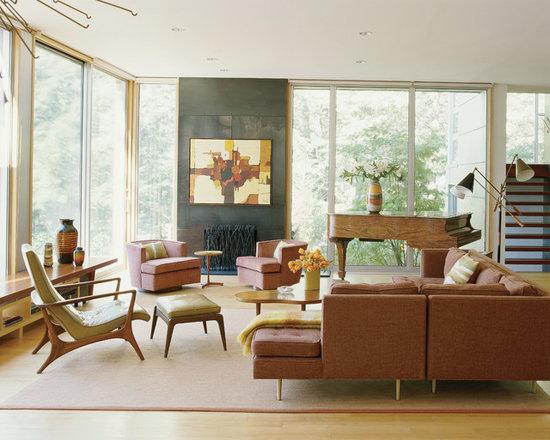 Retro Living Room Houzz