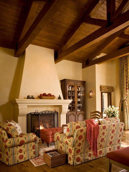 Stucco Fireplace Remodel | Houzz