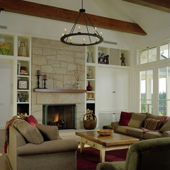 traditional family room by Conard Romano Architects