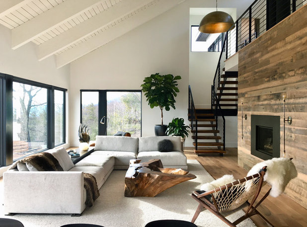 Rustic Living Room by Dichotomy Interiors