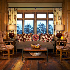 Rustic Living Room by J.Banks Design Group