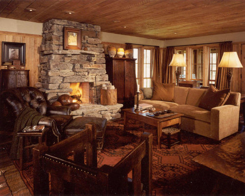 Inspiration For A Rustic Living Room Remodel In Atlanta Part 60