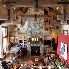 Rustic Living Room by Pinetop Custom Homes