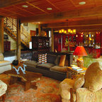Refined Rustic Rustic Family Room Seattle By