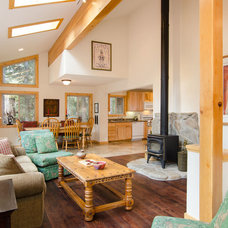 Rustic Family Room by Tahoe Real Estate Photography