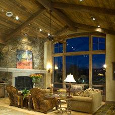 Rustic Living Room by Terra Firma Custom Homes