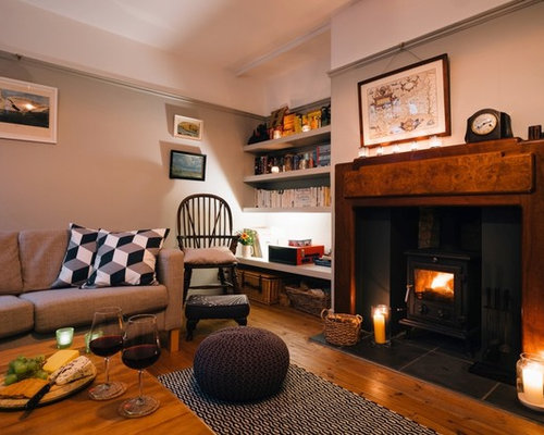 Photo Of A Medium Sized Rustic Enclosed Living Room In Cornwall With A  Reading Nook, Part 66