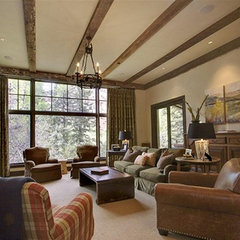 traditional living room by Timothy F. White