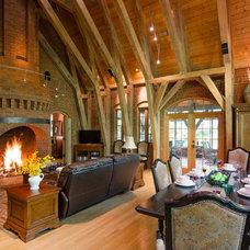 Rustic Living Room by Virtual Studio Innovations