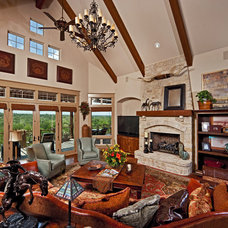 Rustic Living Room by Authentic Custom Homes