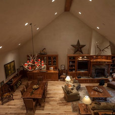 Rustic Living Room by Katherine Rixon and Rob Cronin