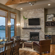 Transitional Living Room by Core Concepts Cabinets & Design