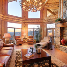 Rustic Living Room by Kurtis Miller Photography and Design