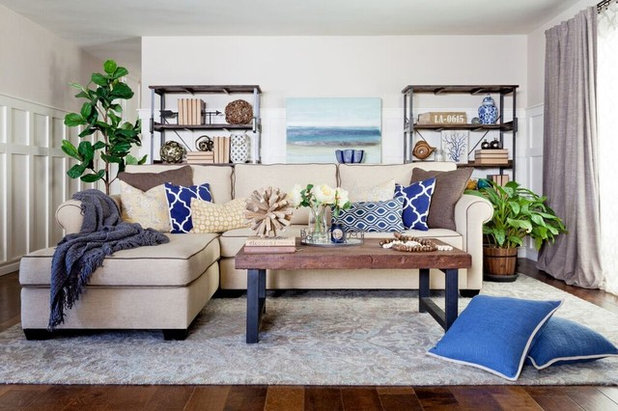 Beach Style Living Room by Jennifer Grey Interiors Design & Color Specialist