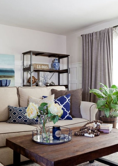 Farmhouse Living Room by Jennifer Grey Interiors Design & Color Specialist