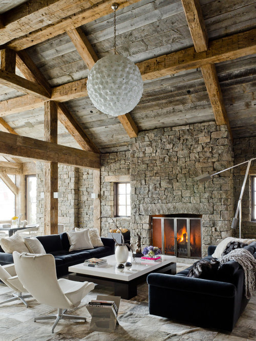 Rustic Modern Living Room | Houzz