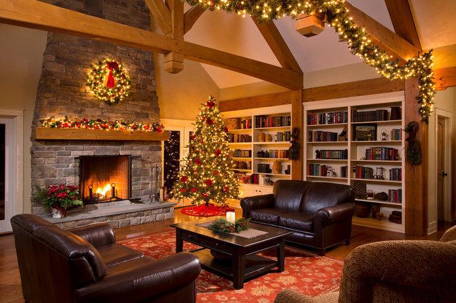 Traditional Living Room by Teakwood Builders, Inc.