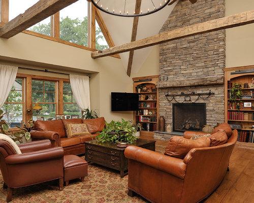 Best 30 Farmhouse Living Room Ideas & Decoration Pictures   Houzz