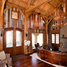 Traditional Living Room by Texas Timber Frames