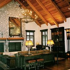 Rustic Living Room by InterDesign Studio