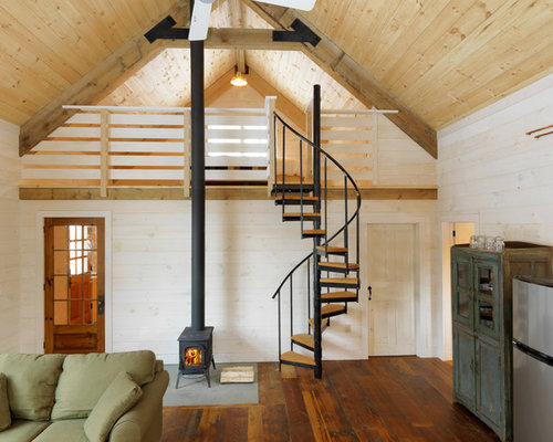 Small living room design ideas renovations photos with a wood burning stove - Wood burning stoves for small spaces gallery ...