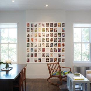 Minimalist living room photo in Boston