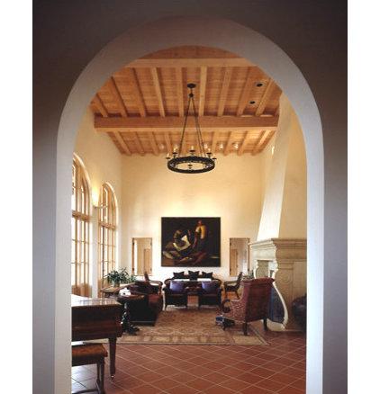 Mediterranean Living Room by RYAN ASSOCIATES GENERAL CONTRACTORS