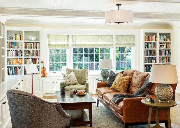Traditional Living Room by Sean Litchfield Photography