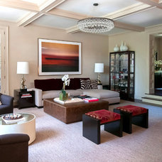Traditional Living Room by Roughan Interior Design