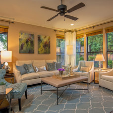 Traditional Living Room by Christen Ales Interior Design