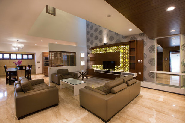 Contemporary Living Room by Technoarchitecture Inc
